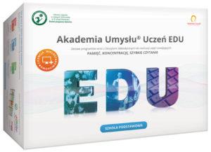 Akademia Umysłu Uczeń EDU edukacyjny pakiet do realizacji zajęć rozwijających pamięć, koncentrację i szybkie czytanie