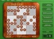 Gry logiczne Sudoku zapewniają rozrywkę a również ćwiczenia koncentracji i pamięci - przykładowa plansza z menu